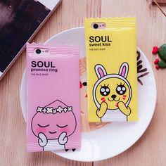 Corée du Dessin Animé Candy Lapin Case pour Iphone 6 6 s 6 plus 7 7 plus Mignon Animal Tpu Silicone Téléphone Case Retour Couverture Lanière Fundas dans Téléphone Sacs et Valises de Téléphones et Télécommunications sur AliExpress.com | Alibaba Group