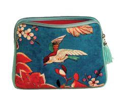 ipad Bag - Bird on Blue