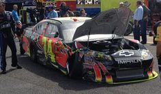 """Post-race (wreck) interview: """"This is just 1 of the most bizarre years for this team. I thought I was clear. Jeff Gordon, Nascar, Interview, Racing, News, Running, Auto Racing"""