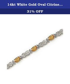 14kt White Gold Oval Citrine Bracelet. 14kt White Gold Oval Citrine Bracelet.. Oval 6/4mm 4.20ct. Free Gift Box. Carat wgt and measurements are approximate.