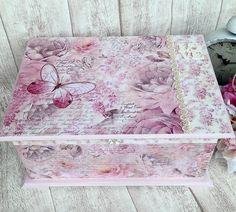 Krabičky - Svadobná Shabby truhlica - 6564650_
