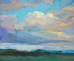 Kathryn Townsend Painting Studio: Clouds and Sunlight