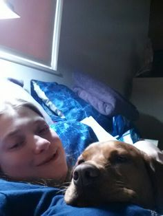 Abby my red lab & I she's my baby girl