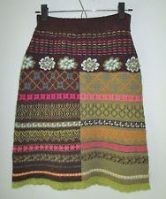 Oilily Wool Blend Fair Isle Knit Skirt Made in Italy Womens S