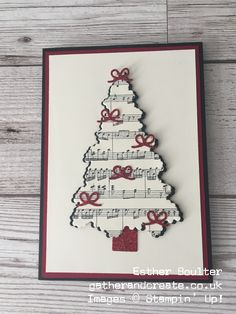 Esther Boulter - Gather and Create Christmas Card using Stampin' Up! Ready for Christmas Bundle One of the things I love about creative people is that everyone has their own style. Out of my crafting friends I can usually pick Create Christmas Cards, Christmas Card Crafts, Homemade Christmas Cards, Christmas Cards To Make, Christmas Art, Christmas Projects, Handmade Christmas, Holiday Cards, Christmas Decorations