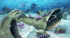 Subnautica: The art of flora 3d Landscape, Landscape Concept, Sea Dragon Leviathan, Subnautica Concept Art, Deep Sea Creatures, Subnautica Creatures, Lost River, Video Game Art, Video Games