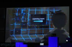 Microsoft and Samsung demos 'illumiroom' display, fills room with images