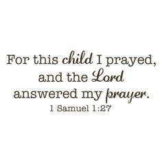 1 Samuel 1:27 with blue baby footprint?