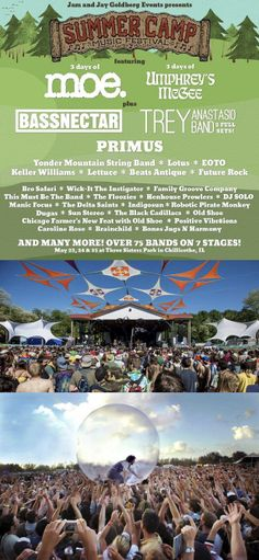 Summer Camp Festival: Chillicothe, Illinois May 23-25, 2014  More info: http://www.metrowize.com/music-festivals-guide