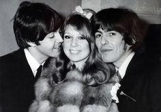 Paul McCartney, Patti Boyd y George Harrison