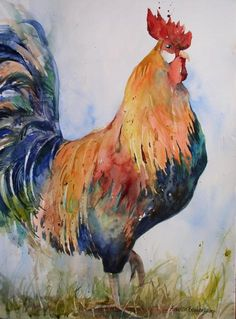 Lovely rooster painting want to do painting for Evelyn d