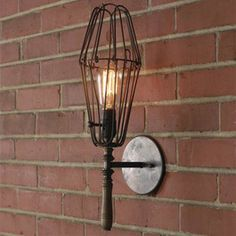 Small Industrial Chic Work Light Sconce
