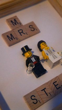 Personalised Lego Wedding Frame, Personalised Scrabble Frame by ConfettiLaceEvents on Etsy https://www.etsy.com/listing/210975018/personalised-lego-wedding-frame