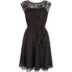 Uttam Boutique Embellished Lace Dress ($52) ❤ liked on Polyvore featuring dresses, black, clearance, a line dress, knee-length dresses, sleeveless a line dress, lace a line dress and lace overlay cocktail dress