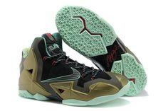 Nike LeBron XI James Men Size Parachute Gold Sport Shoes