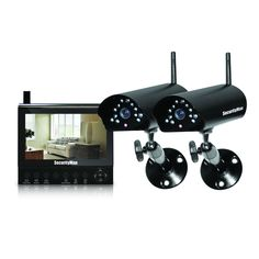 "SecurityMan DigiLCDDVR2 Wireless security system with 7"" LCD/SD card recorder and 2 cameras with night vision/audio"