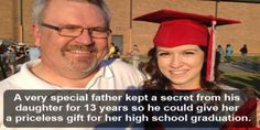A very special father kept a secret from his daughter for 13 years, just so he could give her a priceless gift on the day of her high school graduation. On her very first day …