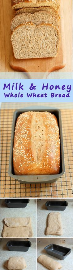 Start the night before to make fresh bread for lunch. Milk & Honey Whole Wheat Bread is the perfect sandwich loaf. Get the recipe and see lots of how-to step by step photos.