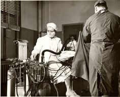 Barnes Hospital operating room in 1951.