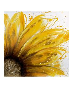Another great find on #zulily! Yellow Daisy Oil Wrapped Canvas #zulilyfinds