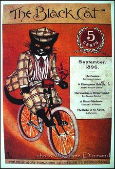 'the black cat' - vintage poster by Jane Diamond