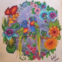 Johannabasford Magicaljungle Coloringbook ArtworkJohanna Basford Secret GardenColored