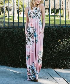 Look what I found on #zulily! Dusty Pink Floral Maxi Dress by Jardin by Macris #zulilyfinds
