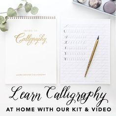 Calligraphy inspiration from calligrapher Laura Hooper and her studio team. Laura Hooper Calligraphy, Calligraphy Kit, Calligraphy For Beginners, Pen Nib, Starter Kit, Hand Lettering, Learning, Gifts, Presents