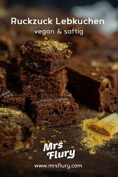 Ruckzuck Lebkuchen vom Blech vegan Mrs Flury  Veganer Lebkuchen, ohne Ausstechen, Lebkuchen vom Blech, Lebkuchen-Würfel, gesunder Lebkuchen, gesund backen, gesunde Rezepte, eat good food, Mrs Flury Lebkuchen  #lebkuchen #backen #vegan #eatgoodfood #mrsflury