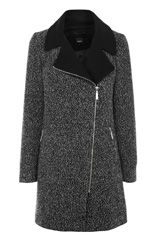 Salt and Pepper Biker Coat