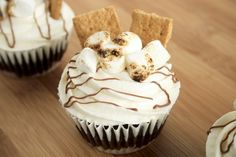 S'more Cupcakes | Cupcakes and Recipes on @We Heart It.com - http://whrt.it/13NTmyM