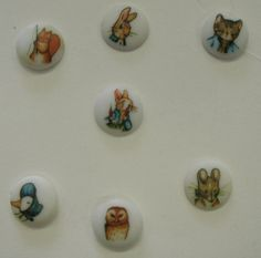 Vintage Beatrix Potter Button Collection by buttertownantiques, $19.99 - I still have quite a few Beatrix Potter buttons like this. Now 1988 is vintage eh? hehe