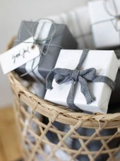 Gray + Red Christmas Packaging - *Lovely Clusters - The Pretty Blog