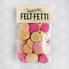 Felt-fetti Confetti: Peach Bellini