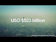• Fossil fuel subsidies: $523 billion in 2011.  • Renewable subsidies: $88 billion in 2011.  (Source: IEA World Energy Outlook 2012 – Presentation to the press, London, 12 November 2012, International Energy Agency)   • The cost to society of dealing with global CO2 related climate change is exceeding $1,200 billion dollars. (Source: DARA and the Climate Vulnerable Forum – Climate Vulnerability Monitor 2nd Edition)