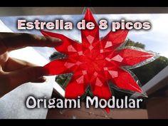 Estrella de 8 picos de papel china| Origami Modular | DIY