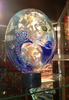 Twin Souls, Glass Sculpture, Susan Gott