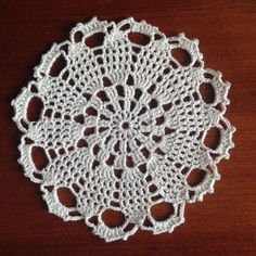 Doily, crocheted.