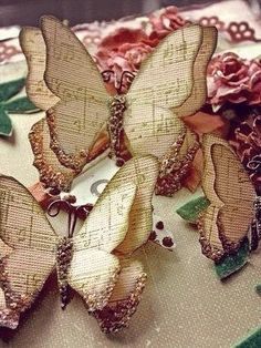 wedding butterfly decorations on Etsy, a global handmade and vintage marketplace. Butterfly Decorations, Butterfly Crafts, Butterfly Art, Paper Butterflies, Paper Flowers Diy, Beautiful Butterflies, Old Book Crafts, Book Page Crafts, Crafts To Make