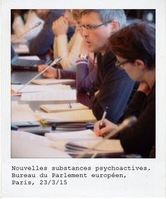 Table ronde sur les nouvelles substances psychoactives. Bureau d'information en France du Parlement européen, mars 2015. Manifeste
