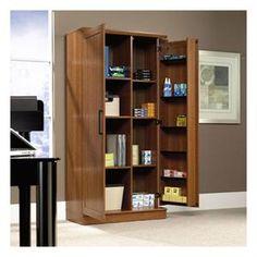 HomePlus Collection By Sauder Sienna Oak Storage Cabinet   $189
