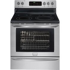 "Frigidaire - Gallery 30"" Self-Cleaning Freestanding Electric Convection Range - Stainless-Steel"