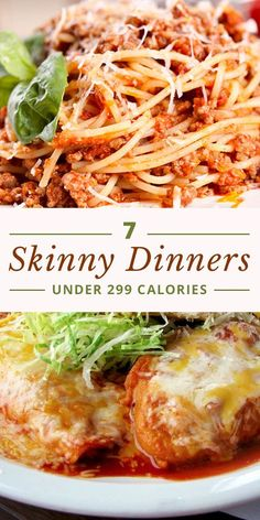We're making your weight loss journey a little easier by sharing 7 Skinny Dinners Under 299 Calories!  #lowcaloriedinners #weightloss #weightwatchers