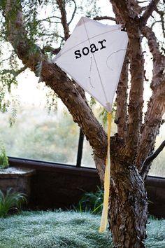 Handmade Artisan Fabric SOAR Kite (decorative/photo prop)