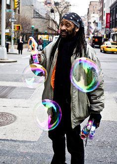 The Bubble Man. Pentax K-5, Pentax SMC K 28mm f/3.5. © Jim Fisher