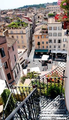 View from rooftop terrace of Hotel Campo de Fiori, Rome