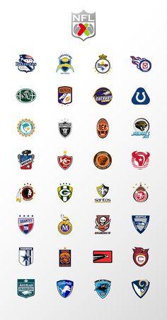 Liga NFL MX on Behance College Football Logos, Nfl Football Helmets, Nfl Broncos, Nfl Playoffs, Football Uniforms, Nba, Soccer Logo, Nfl Logo, Team Logo