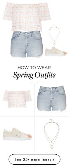 """""""Spring Outfit"""" by mayalexia on Polyvore featuring Topshop, adidas Originals, Sole Society, women's clothing, women, female, woman, misses and juniors"""