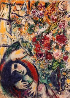Couple in the Window - Marc Chagall