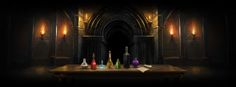 The seven potions testing logic that protect the Philosopher's Stone.